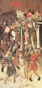 MARTORELL, Bernat (Bernardo) Two Scenes from the Legend of ST.George The Flagellation The Saint Dragged through the City (mk05) oil on canvas