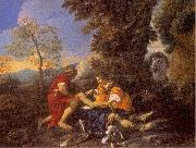 MOLA, Pier Francesco Herminia and Vafrino Tending the Wounded Tancred painting