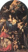 Maratta, Carlo Madonna and Child Enthroned with Angels and Saints oil on canvas