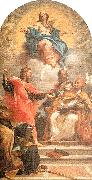Maratta, Carlo The Assumption and the Doctors of the Church oil on canvas