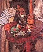 Mashkov, Ilya Still-Life with a Fan oil painting reproduction