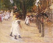 Max Liebermann On the Way to School in Edam painting