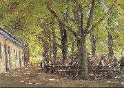 Max Liebermann Country Tavern at Brunnenburg oil painting reproduction