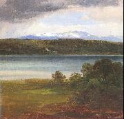 Morgenstern, Christian View Across Lake Starnberg to the Benediktenwand oil on canvas