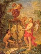 Natoire, Charles Joseph Cupid Sharpening his Arrow oil on canvas