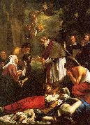 Oost, Jacob van the Younger St. Macaire of Ghent Tending the Plague-Stricken oil painting reproduction