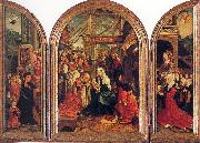 Oostsanen, Jacob Cornelisz van Tryptych with the Adoration of the Magi, Donors, and Saints oil on canvas