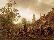 Ostade, Isaack Jansz. van The Halt at the Inn oil on canvas