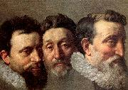 POURBUS, Frans the Younger Head Studies of Three French Magistrates painting