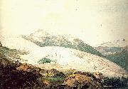 Pars, William The Rhone Glacier and the Source of the Rhone oil on canvas