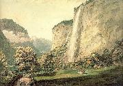 Pars, William The Valley of Lauterbrunnen and the Staubbach oil on canvas