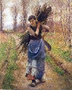 Pearce, Charles Sprague The Woodcutter's Daughter oil on canvas