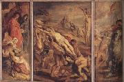 Peter Paul Rubens The Raising of the Cross (mk01) oil painting reproduction