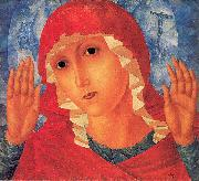 Petrov-Vodkin, Kozma Our Lady- Tenderness of Cruel Hearts painting