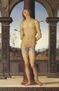 Pietro vannucci called IL perugino st Sebastian (mk05) oil on canvas