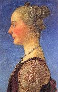 Pollaiuolo, Piero Portrait of a Young Woman oil painting