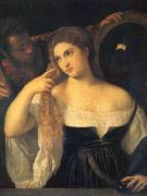 Titian A Woman at Her Toilet (mk05) oil on canvas