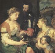 Titian An Allegory (mk05) oil on canvas