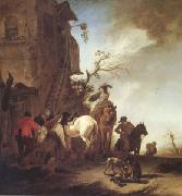 WOUWERMAN, Philips Hunters and Horsemen by the Roadside (mk05) painting