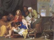 Brun, Charles Le Holy Family with the Infant Jesus Asleep (mk05) painting