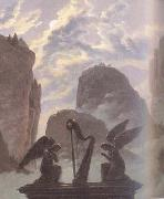 Carl Gustav Carus details Memorial Monument to Goethe (mk10) oil painting reproduction