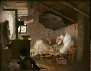 Carl Spitzweg The Poor Poet (mk09) oil on canvas