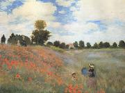 Claude Monet Poppies near Argenteuil (mk06) oil painting reproduction