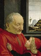 Domenico Ghirlandaio Old Man and Young Boy (mk08) painting