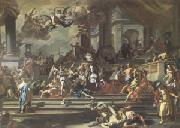 Francesco Solimena Heliodorus Chased from the Temple (mk05) painting