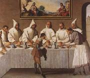 Francisco de Zurbaran St Hugo of Grenoble in the Carthusian Refectory (mk08) oil painting reproduction