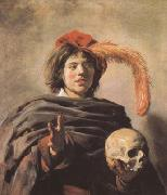 Frans Hals Young Man with a Skull (mk08) oil painting reproduction
