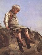 Franz von Lenbach Young boy in the Sun (mk09) oil painting reproduction