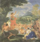 Giovanni Battista Gaulli Called Baccicio St John the Baptist Preaching (mk05) oil on canvas