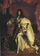 Hyacinthe Rigaud Louis XIV King of France (mk05) oil