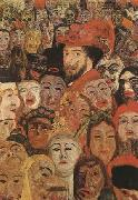 James Ensor Portrait of the Artist Sur-Rounded by Masks (mk09) oil painting artist