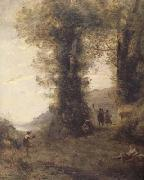 Jean Baptiste Camille  Corot Pastorale (mk11) oil painting reproduction