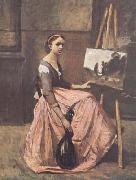 Jean Baptiste Camille  Corot L'atelier (mk11) oil painting reproduction
