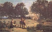 Jean Baptiste Camille  Corot Homere et les bergers (mk11) painting