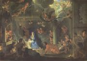 LE BRUN, Charles The Adoration of the Shepherds (mk05) oil painting reproduction