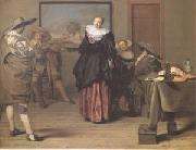 Lambert  Jacobsz The Dancing Lesson (mk05) china oil painting artist