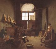 Leon-Matthieu Cochereau Interior of the Studio of David (mk05) oil on canvas