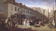 Louis Leopold  Boilly THe Arrival of a Coach (mk05) oil on canvas