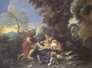 MOLA, Pier Francesco Herminia and Vafrino Tending the Wounded Tancred (mk05) painting