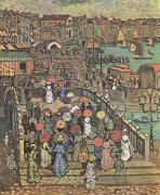 Maurice Prendergast Ponte della Paglia in Venice (mk09 oil painting reproduction