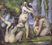 Paul Cezanne Three Bathers (mk06) oil painting reproduction