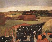 Paul Gauguin The Hayricks (mk07) oil painting reproduction