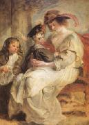 Peter Paul Rubens Helene Fourment and Her Children,Claire-Jeanne and Francois (mk05 ) painting