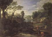 Poussin Landscape with Diogenes (mk05) oil painting reproduction