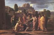 Poussin Christ Healing the Blind (mk05) oil painting reproduction