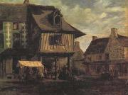 Theodore Rousseau Marketplace in Normandy (san04) oil